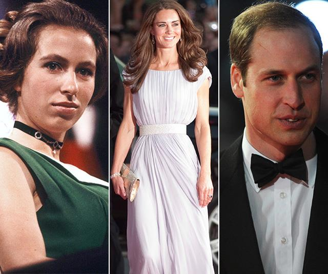 princess anne prince william kate middleton