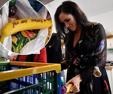 Duchess Meghan slammed for her hand-written messages on bananas