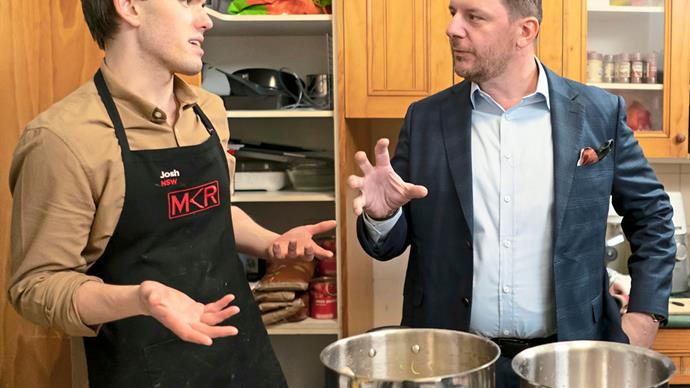 Outspoken siblings Josh and Austin push My Kitchen Rules judge Manu to the edge