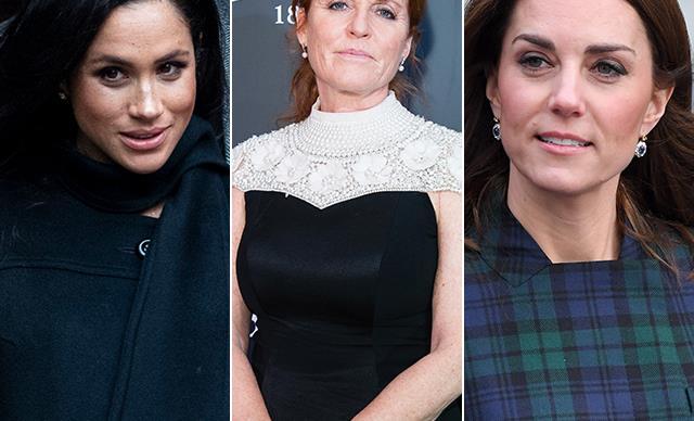 Meghan Markle Sarah Ferguson Kate Middleton