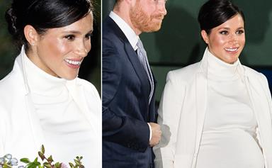 Duchess Meghan just wore a stunning recycled outfit for date night with Prince Harry