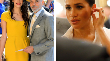 """George Clooney defends Meghan Markle: """"She's been pursued and vilified"""""""