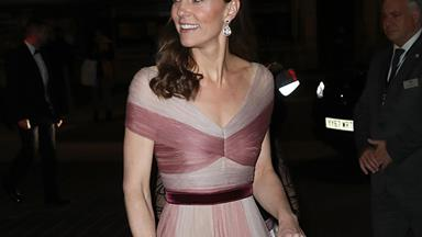 Duchess Catherine proves she is fashion royalty in her latest pink Gucci gown