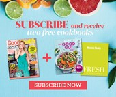 Subscribe to Good Health & Wellbeing magazine and receive two bonus cookbooks