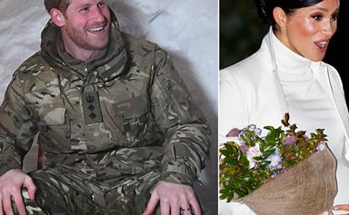 Prince Harry spent Valentine's Day next to a shrine dedicated to himself and Duchess Meghan