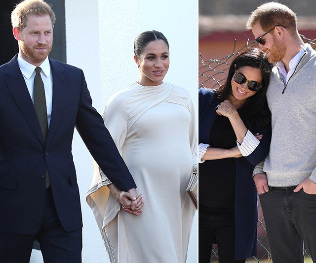 Heavily pregnant Duchess Meghan dazzles as she tours Morocco with Prince Harry
