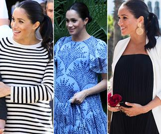 Meghan's Moroccan fashion show: The Duchess wears THREE different maternity looks in one day