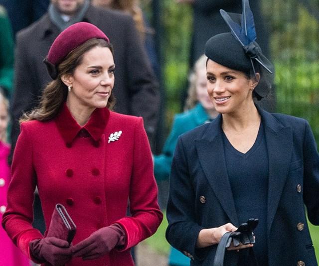 Kate Middleton and Meghan Markle Christmas 2018