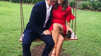 The Bachelor's Matty J and Laura Byrne's love story in pictures