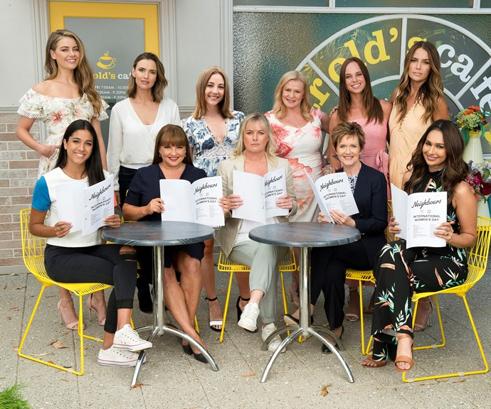 *Neighbours* will air its first all-female episode on Friday, March 8. *(Image: Channel Nine)*