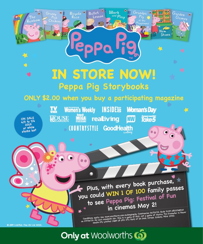 Peppa Pig Storybooks $2 only at Woolworths* + your chance to WIN!