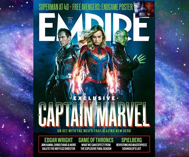 Captain Marvel, Marvel, Empire, Brie Larson, Samuel L Jackson