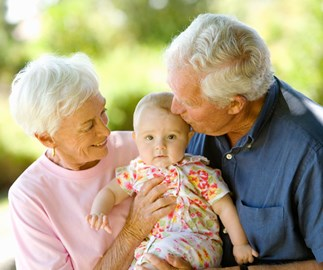 Five tips to help you tell your in-laws to stop kissing your baby