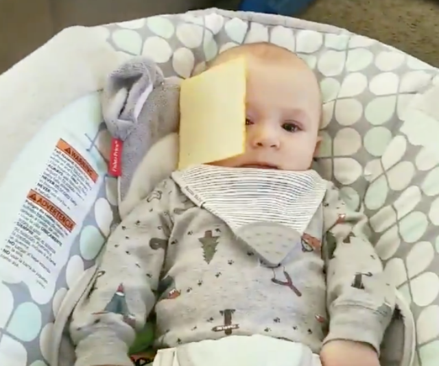 The cruel #CheeseChallenge that targets innocent babies