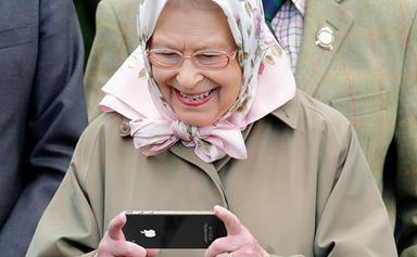 Queen Elizabeth has posted on Instagram for the first time