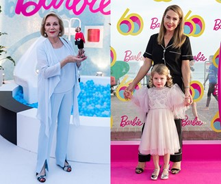 Ita Buttrose, Kate Ritchie and Roxy Jackenko celebrate Barbie's 60th birthday at Sydney's Bondi Beach