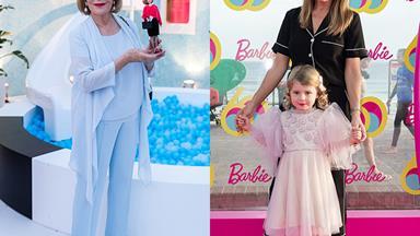 Ita Buttrose, Kate Ritchie and Roxy Jackenko celebrate Barbie's 60th birthday at Sydney's Bondi Beach