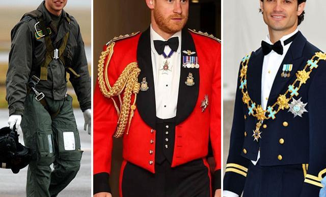 Royals in uniform