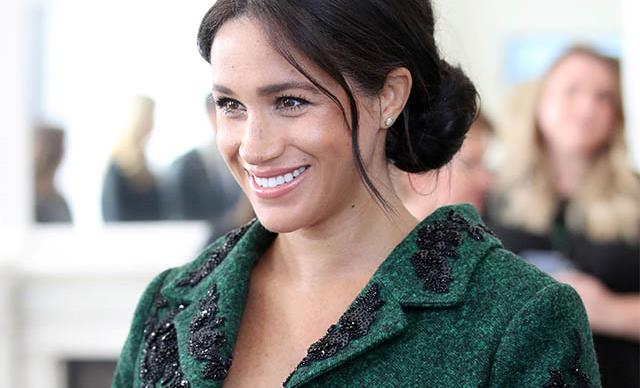 Meghan Markle wearing custom erdem outfit commonwealth day 2019