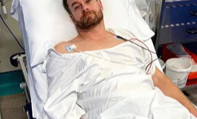 Grant Denyer rushed to hospital again with back injury