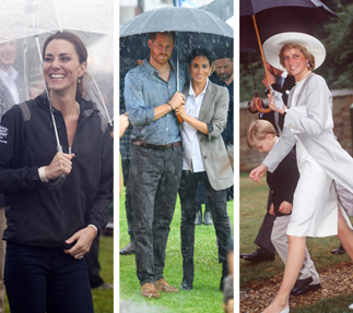 The reigns are coming! Amazing photos of the royal family holding their own umbrellas