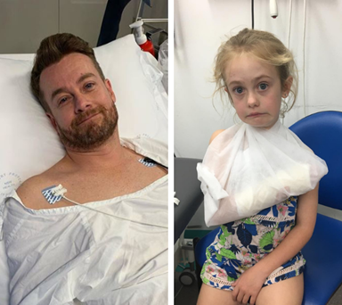 Grant Denyer's daughter rushed to hospital after accident