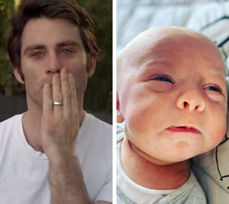 Jimmy Rees breaks down while talking about the moment he nearly lost his newborn son