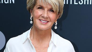 EXCLUSIVE: Julie Bishop wears her most important outfit yet as she supports a cause close to home