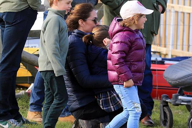 NEW PICS: Prince George and Mia Tindall just shared the cutest BFF moment during fun family day out