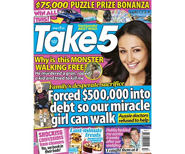 Take 5 Issue 17 Entry Coupon