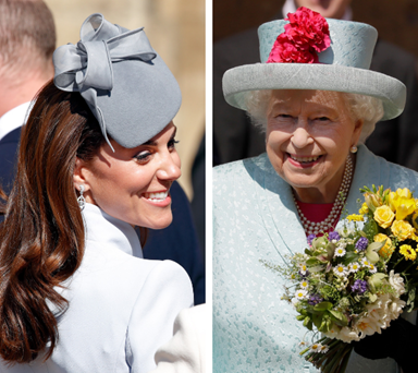 A royally good Easter! Duchess Catherine, Prince William and Prince Harry join the Queen for birthday service