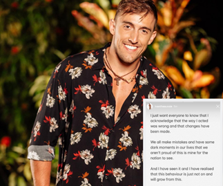 "Bachelor in Paradise star Ivan Krslovic ""ashamed"" of his behaviour on the show"