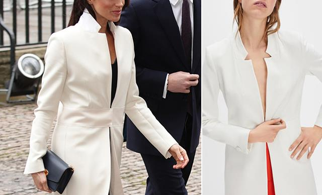PSA: Meghan Markle's favourite white coat is available at Zara for a fraction of the price