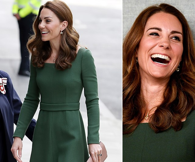Duchess Catherine distracts Royal Baby watchers as she steps out in stunning green outfit