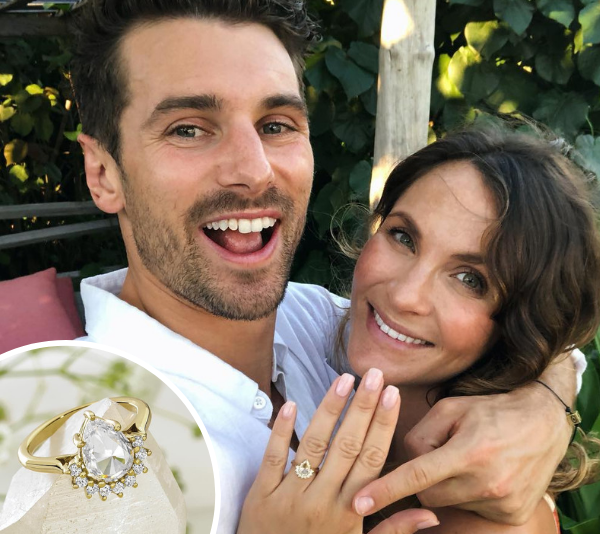 Did Matty J get Laura Byrne's engagement ring for free?
