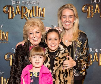 Patti Newton and Lauren Newton have family night out to the theatre