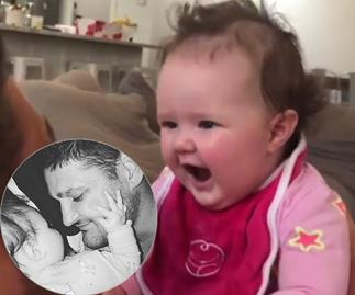 Brendan Fevola's baby daughter just said her first words in this video that'll melt your heart