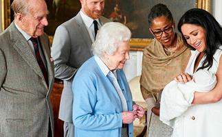The Queen, Prince Philip, Doria Ragland, Archie, Prince Harry, Meghan Markle