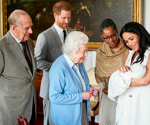 The Queen, Prince Philip, Doria Ragland, Archie, Prince Harry, Meghan Markle