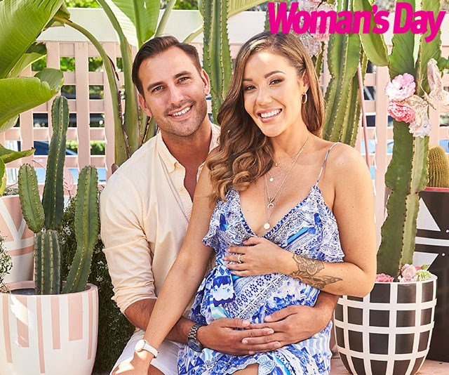 """""""I think I'm going to have to be the strict one, he'll just melt,"""" she explains of their different parenting styles. *(Image: Exclusive/Philip Castleton/bauersyndication.com.au)*"""
