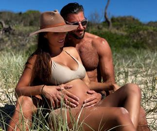 Snezana Markoski thanks Sam Wood for helping her through the less-glamorous side of pregnancy