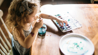 44 month old: It might be messy, but craft time is so important for your toddler's development