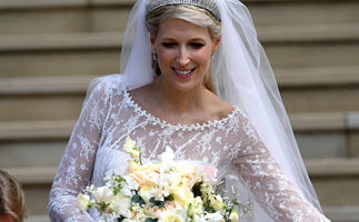 The beautiful touching detail hidden in Lady Gabriella's wedding dress you missed