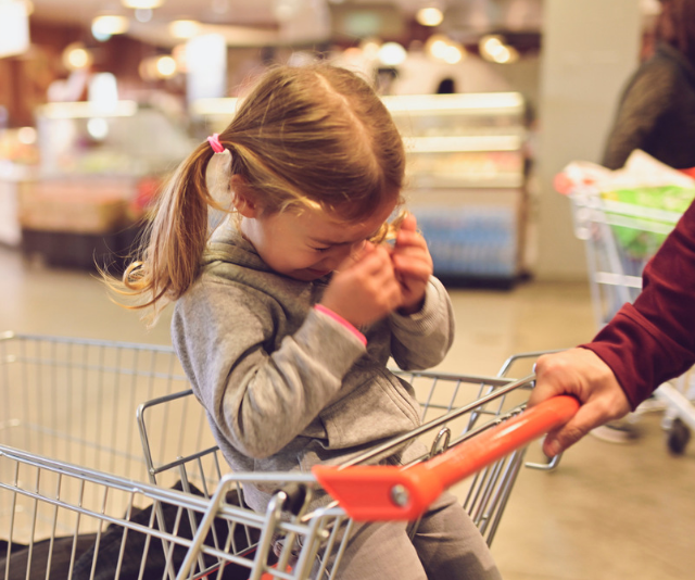 Tips to help get your toddler down the supermarket aisle in one piece without a meltdown or tantrum