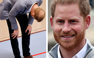 Seriously, poor Prince Harry's bald patch keeps getting bigger and bigger