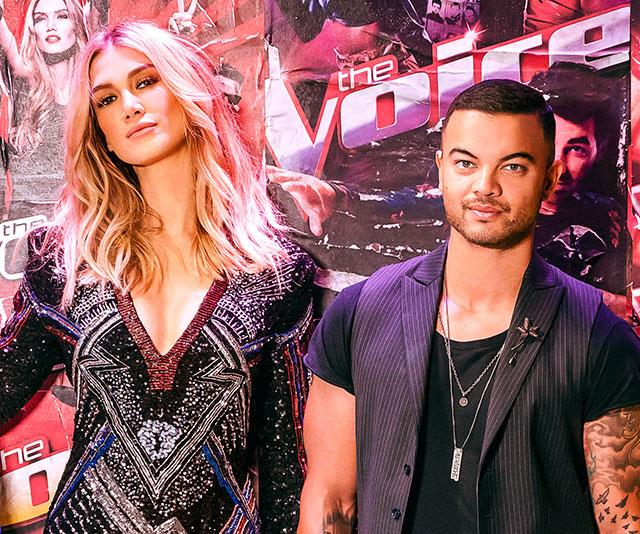 New *Voice* coach Guy Sebastian (right) dished on his secret romance with Delta earlier this season.
