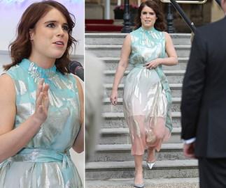 princess eugenie blue dress