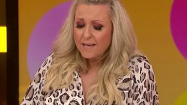 Angela Bishop breaks down talking about her late husband on Studio 10