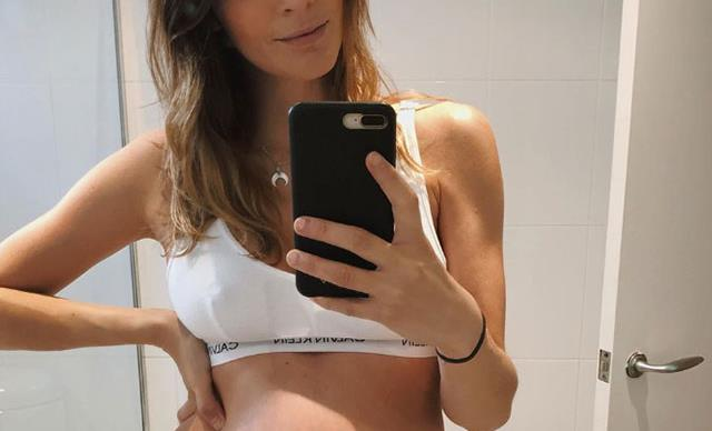 Laura Byrne may have accidentally let slip the gender of her unborn baby