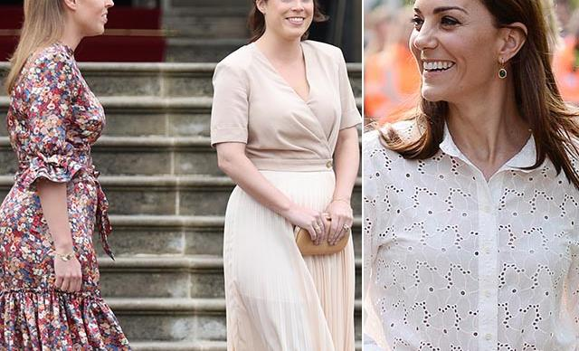Princesses Beatrice and Eugenie just twinned with Kate Middleton by wearing this unexpected accessory
